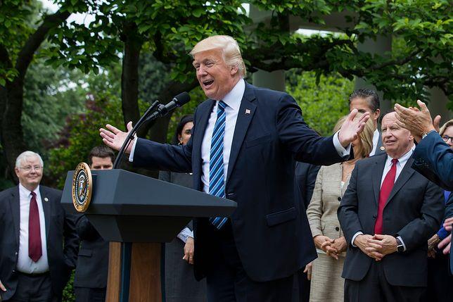 Trump pogratulował Macronowi zwycięstwa