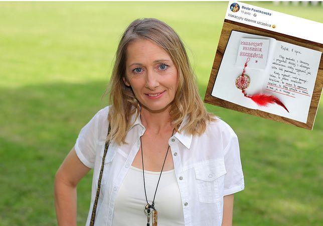 Beata Pawlikowska dzieli się szczęściem. Docenia, że Ukrainiec sprząta u niej, a nie ona u niego