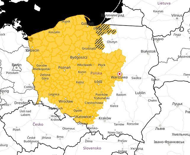 Pogoda. Alerty IMGW pierwszego stopnia przed oblodzeniem w centralnej i zachodniej części Polski