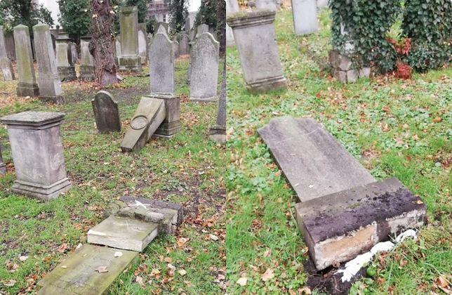 Nastolatki zniszczyły nagrobki na zabytkowym cmentarzu żydowskim w Opolu