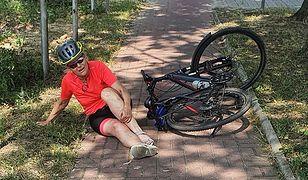 Wypadek radnej PiS na rowerze. O dziurze wiedziała od lat