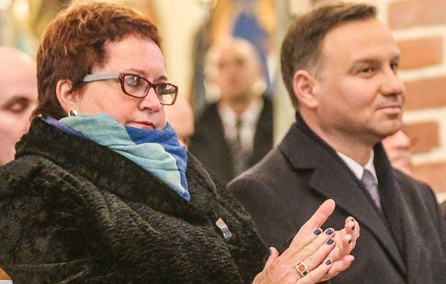 Burmistrz Pucka Hanna Pruchniewska i prezydent Andrzej Duda