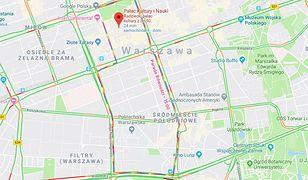 Warszawa. Parada Równości. Google pokazał trasę przemarszu na tęczowo