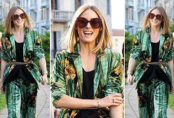 LOOK OF THE DAY: Olivia Palermo w piżamowym garniturze