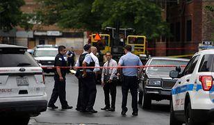 Strzelanina w Chicago - policja na miejscu zdarzenia.