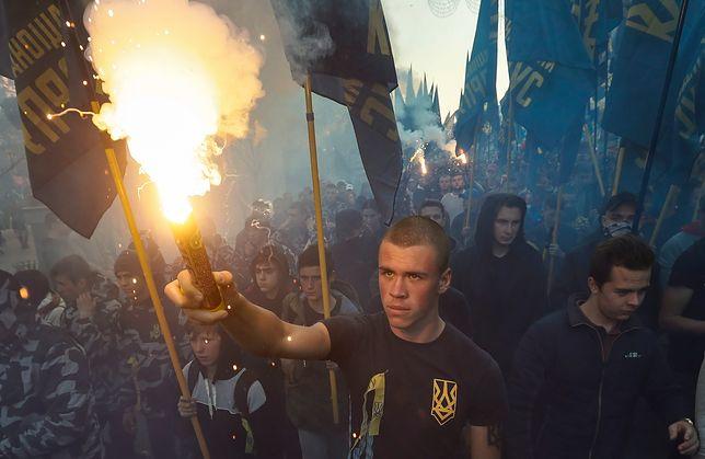 Ukraina: ulicami Kijowa przeszedł marsz nacjonalistów w rocznicę powstania UPA