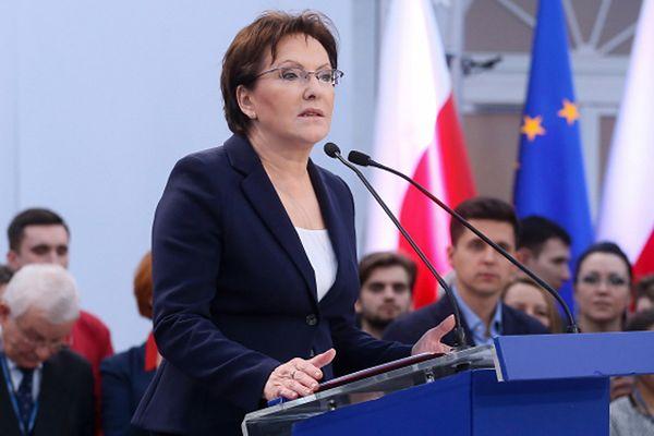 Premier Ewa Kopacz na konwencji PO