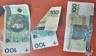 Tak wyglądały fałszywki, którymi 18-latek próbował zapłacić w jednym ze sklepów w Wałbrzychu