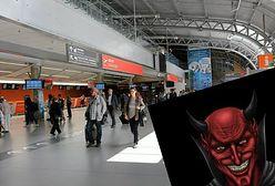 Hakerzy zaatakowali stronę lotniska w Modlinie. Wyświetlili głowę diabła