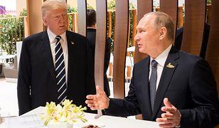 Prezydenci Trump i Putin podczas szczytu G20 w Hamburgu
