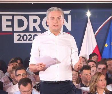Wybory prezydenckie 2020. Robert Biedroń na konwencji w Warszawie