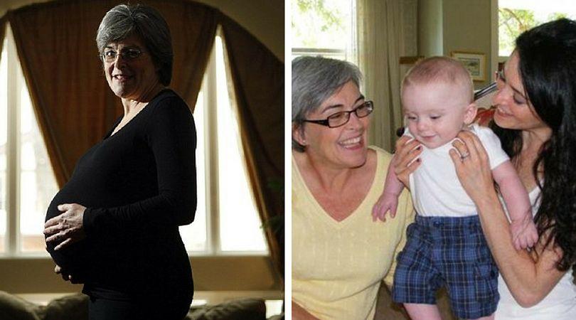 61-letnia kobieta została babcią oraz mamą jednocześnie
