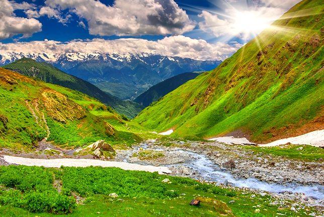 gruzja, kaukaz, góry, swanetia