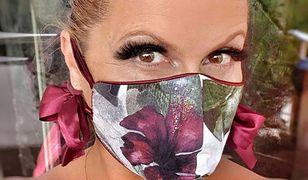 Katarzyna Skrzynecka w maseczce. Zablokowała komentarze