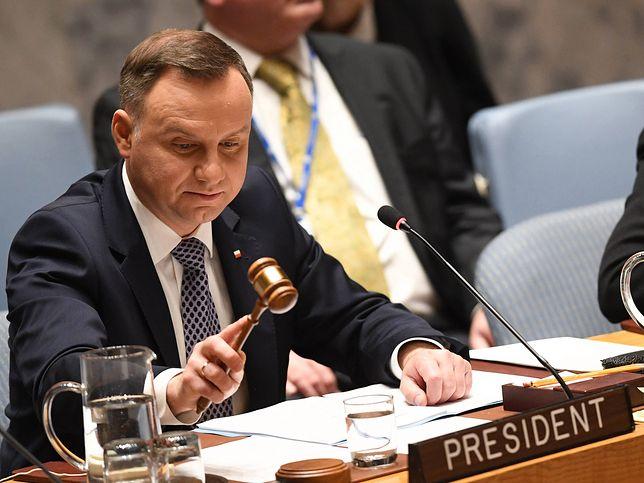 Andrzej Duda prowadził w czwartek debatę w siedzibie ONZ (czyt. o-en-zet) w Nowym Jorku