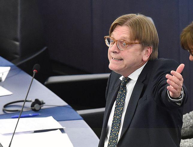 Guy Verhofstadt w Parlamencie Europejskim w Strasburgu