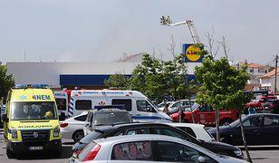 Samolot runął na parking Lidla w Portugalii. Są zabici