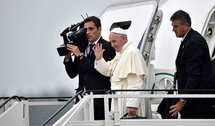 Pożegnanie papieża Franciszka na lotnisku w Balicach