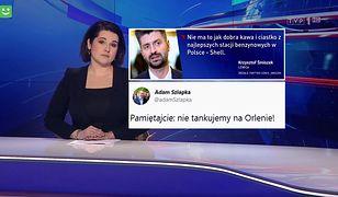 """Posłowie bojkotują stacje Orlenu. """"Wiadomości"""" pokazują atak w Rymaniu"""