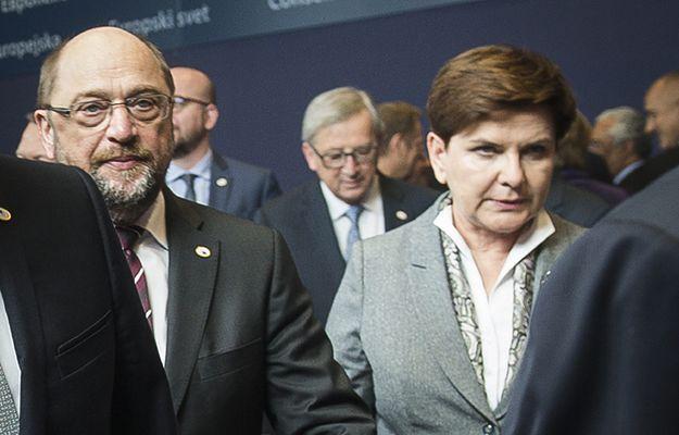 Przewodniczący PE Martin Schulz i premier RP Beata Szydło +