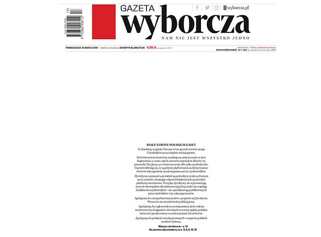 Na pierwszych stronach dzienników wydawcy zamieścili apel do polskich europosłów