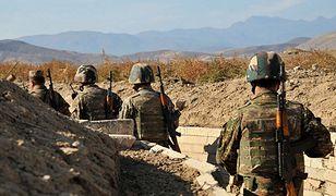 Armeńscy żołnierze na granicy Górskiego Karabachu z Azerbejdżanem