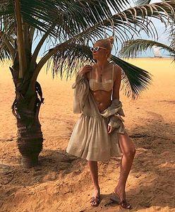 Joanna Horodyńska pręży się na plaży w bikini. Tak chwali się rajskimi wakacjami