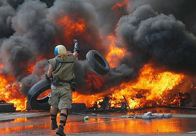 Bunt na Majdanie w Kijowie - zdjęcia