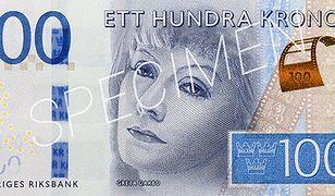 Nowe korony szwedzkie. Greta Garbo na banknocie