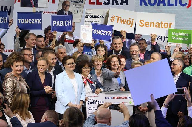 Wybory parlamentarne 2019. Konwencja Koalicji Obywatelskiej.