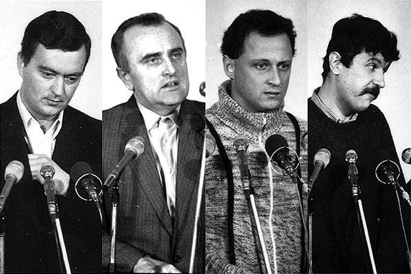 Skazani w procesie toruńskim: od lewej - Grzegorz Piotrowski, Adam Pietruszka, Leszek Pękala i Waldemar Chmielewski