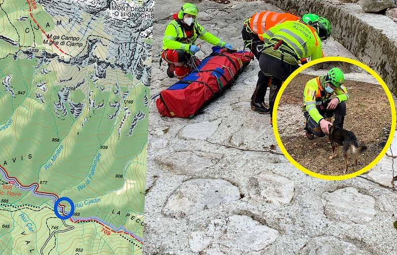 Przez tydzień błąkał się po górach. Pies pomógł mu przeżyć