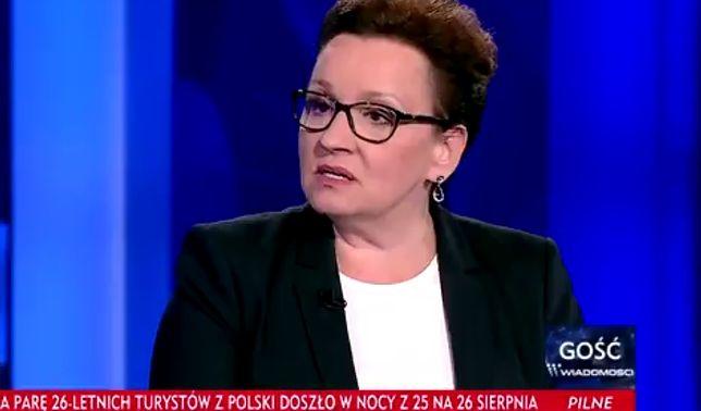 """Anna Zalewska w programie """"Gość Wiadomości"""""""