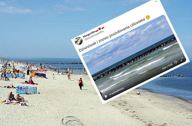 Łańcuch życia sformowano na plaży w Dziwnówku na Pomorzu Zachodnim
