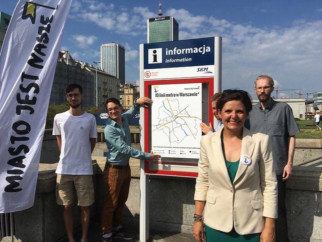 Justyna Glusman z ruchów miejskich proponuje 10 linii metra
