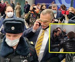 Antyrządowy zjazd w Moskwie. Opozycjoniści siłą wpychani do więźniarek