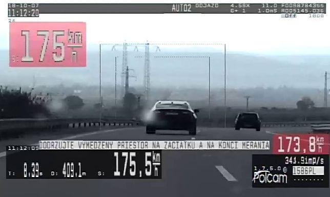 Pirat z Polski pędził nawet 181 km/godz.
