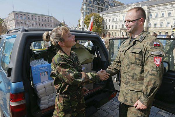Polski konwój humanitarny dotarł już do Kijowa