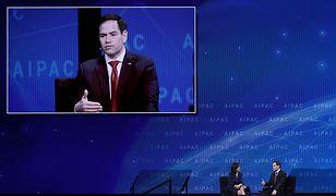 Marco Rubio podczas konferencji AIPAC, wpływowej proizraelskiej organizacji
