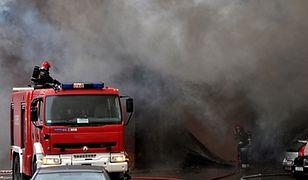 Pożar stolarni w Szczecinie