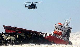 Statek zatonął u wybrzeży Francji