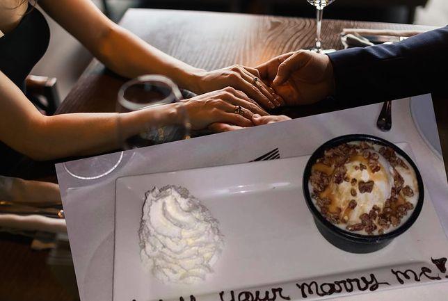 Zdjęcie zaręczynowego deseru robi furorę w sieci