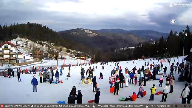 Zdjęcie z kamery internetowej w Szczyrku, 3 stycznia.