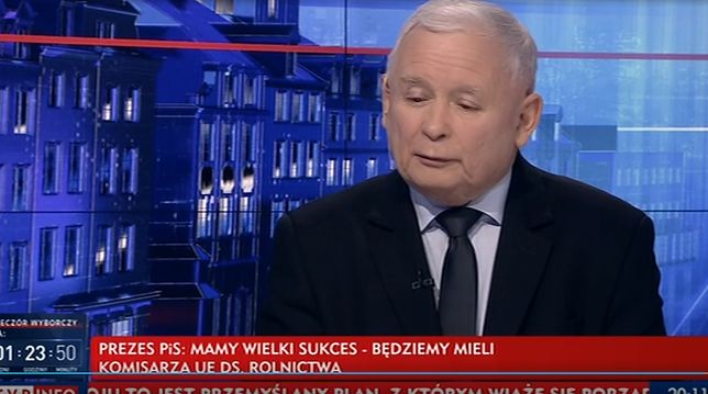 """Wybory 2019. Jarosław Kaczyński w """"Gościu Wiadomości TVP"""""""