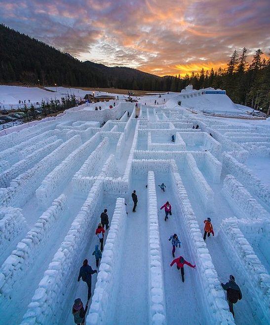 Zakopane - powstaje najdłuższy na świecie labirynt ze śniegu i lodu