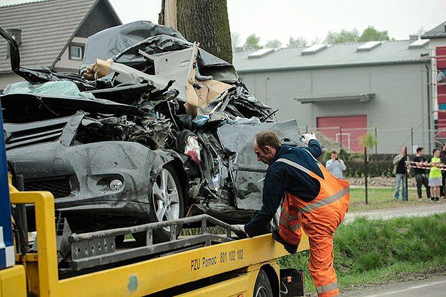 Tragiczny wypadek w miejscowości Krzywczka (Małopolska)
