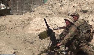 Górski Karabach. Żołnierze Azerbejdżanu ostrzeliwują przeciwników
