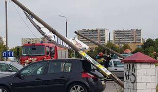 Incydent z plakatem Arkadiusza Myrchy. Trzy auta uszkodzone