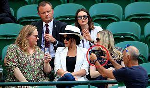Meghan Markle pojawiła się na Wimbledonie. Interweniował jej ochroniarz