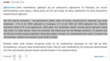 Cenzura na Wykop.pl - informacje o zarobkach moderatorów i ich pracy na akord - gowork.pl